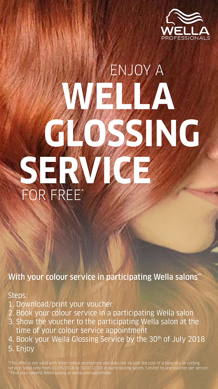 wella glossing service summer