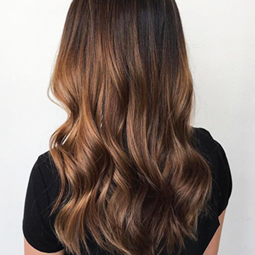 balayage hair colour